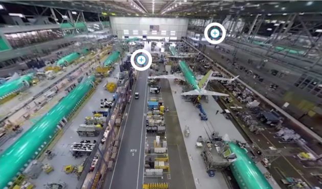 360-degree virtual tour gives you amazing views of Boeing's jet factory in Renton More than 5 million guests have toured Boeing's airplane factory in Everett, Wash., which ranks as one of the Puget Sound region's top attractions – …  https://www.geekwire.com/2017/take-virtual-tour-boeings-jet-factory-renton-complete-360-degree-views/