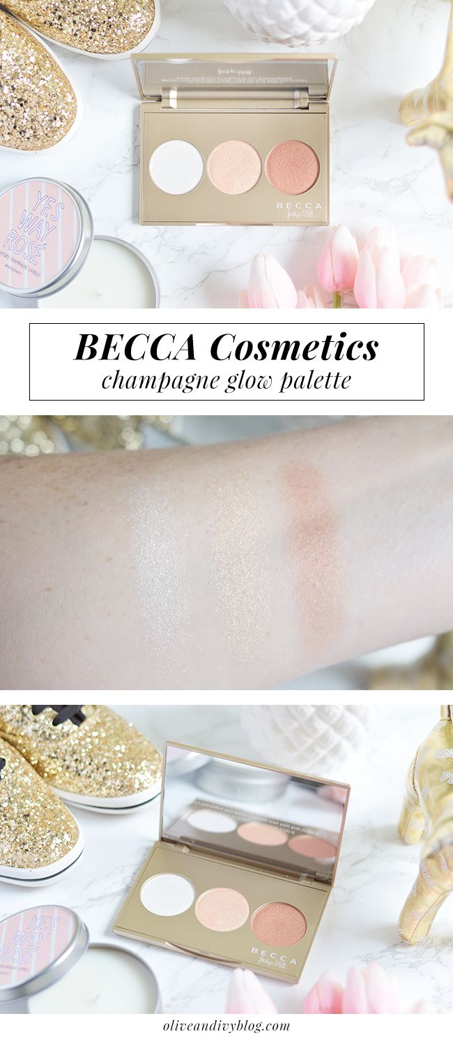 The BECCA Champagne Glow palette is insanely gorgeous! | oliveandivyblog.com