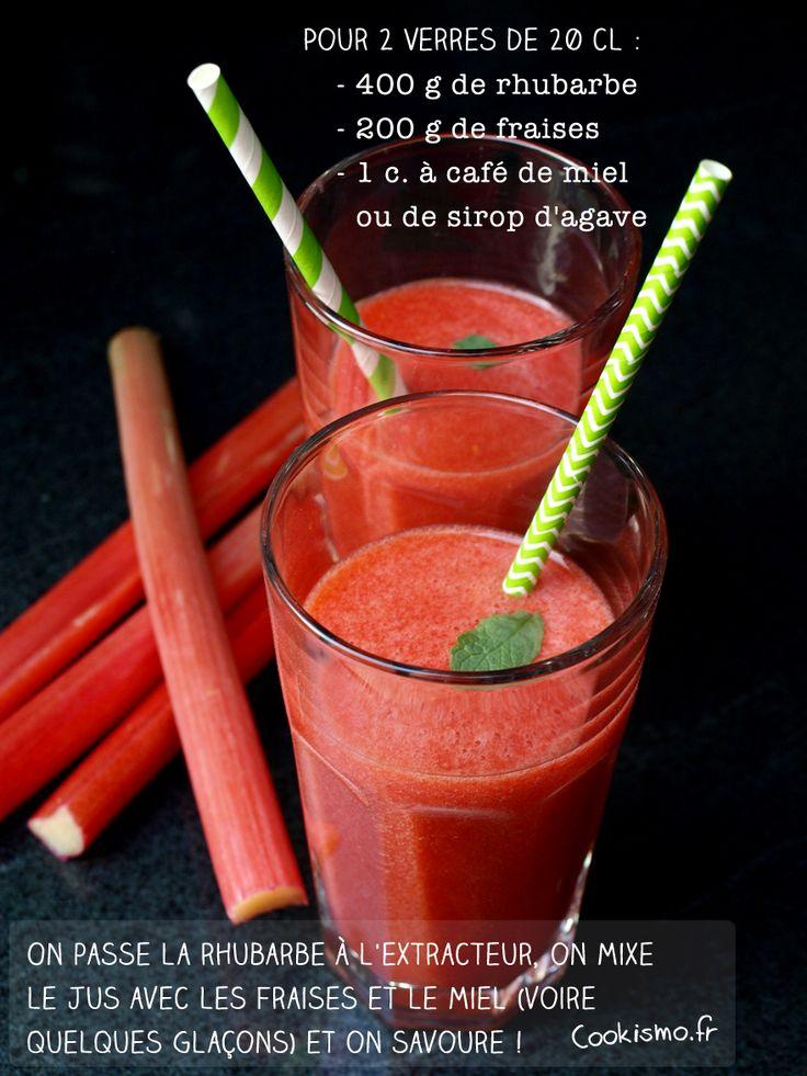 Jus maison fraise-rhubarbe