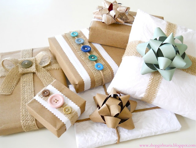 DIY - Recycled Gift Wrap Ideas - clever & lovely!