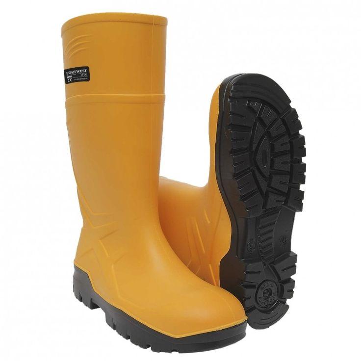Portwest PU Safety Wellington S5 Gummistövel. Den ultimata stöveln för bästa komfort och säkerhet. Mer flexibel och längre livslängd än PVC eller gummi på grund av sina luftbubblor struktur som ger luftcirk
