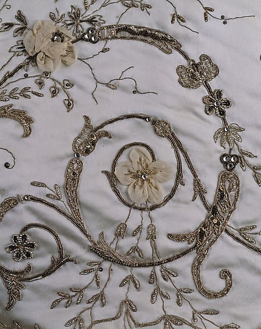 House of Worth Ball Gown, embroidery detail (c. 1900-1905)