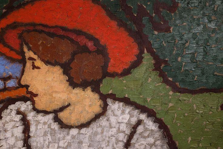 Rippl-Rónai József: Schiffer-villa pannója, részlet, 1911 k., olaj, vászon, 153 x 332 cm