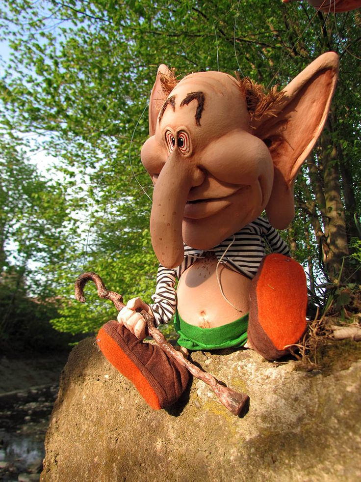 Truntomír - the mascot of the children's summer camp Kysak-Brezie.