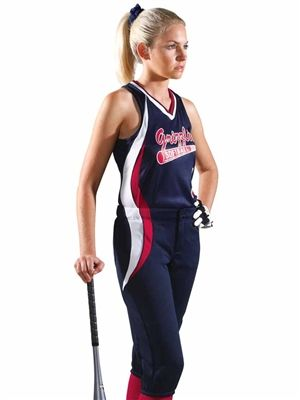 "Womens/Girls ""Sweep"" Softball Uniform Set with Pants TW1278/1288SOF-SETP"