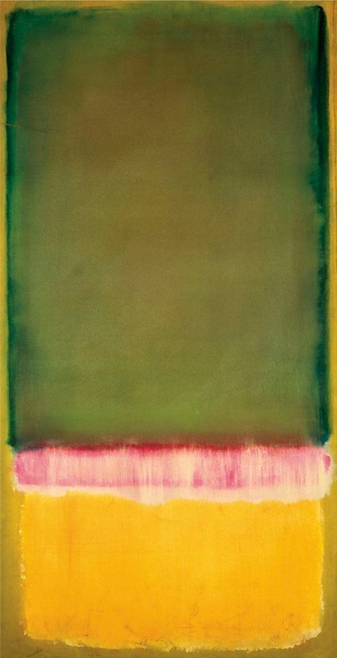Untitled ca. 1949 - Mark Rothko - 53x100 cm Más www.artgallery.com.mx [art abstract yellow red green home wall decor]