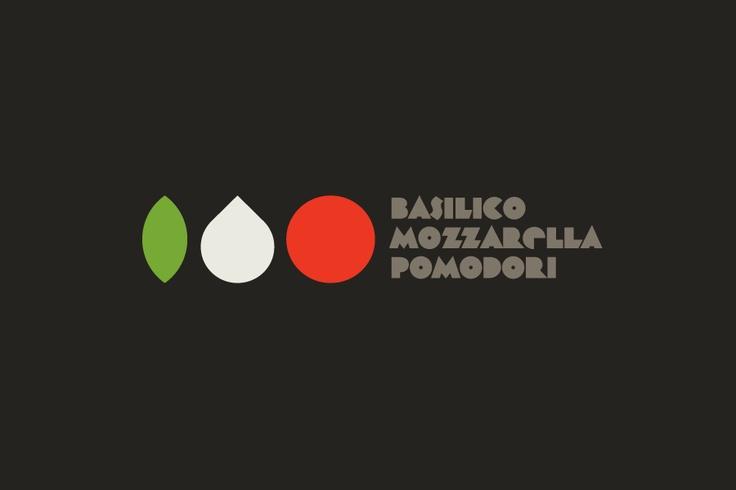 Basilico Mozzarella Pomodori Identity for italian restaurant and bakery