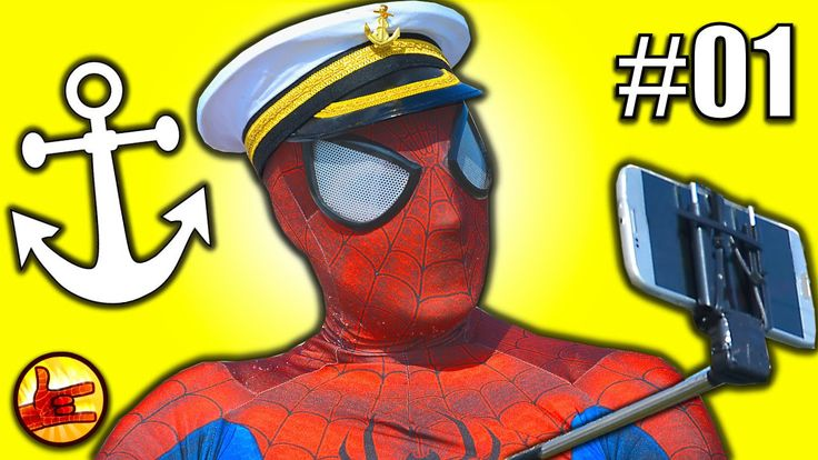 SPIDERMAN VLOG In Real Life -Spiderman showing his Boat Captain Spiderba...