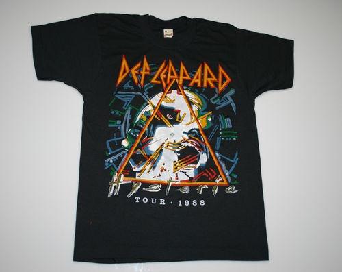 Vintage Def Leppard 88 Hysteria Tour T Shirt 1988 1980 S