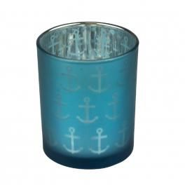 anchor  glass tealight holder - click to view