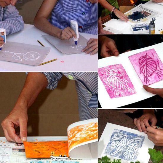 Hoy vamos a aprender a hacer sencillos grabados de la mano de Cristina Moreno. Se trata de una manualidad muy fácil de hacer ya que no requiere apenas materiales, pero queda super chulo! MATERIALES NECESARIOS: 1 cartón para el molde...
