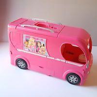Barbie Camper Pop Up Pink Vehicle Van Play Set
