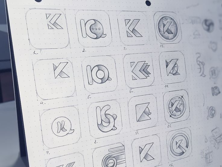 App Icon Sketches by Maria Shanina for Plainwhite