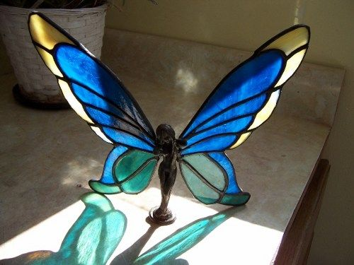 Stained Glass Standing Butterfly Lady