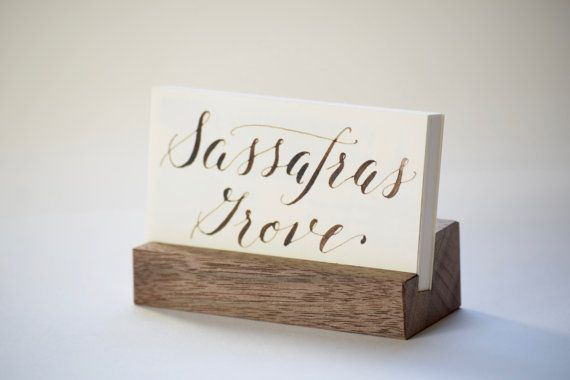 Nogal madera tarjetero inacabado Natural por SassafrasGroveStudio