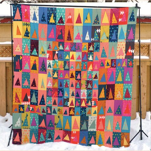 Jennifer Johnston Triangle quilt top in Alison Glass Handcrafted via antstosugar. Used as inspiration for her Little Tents block, nice!