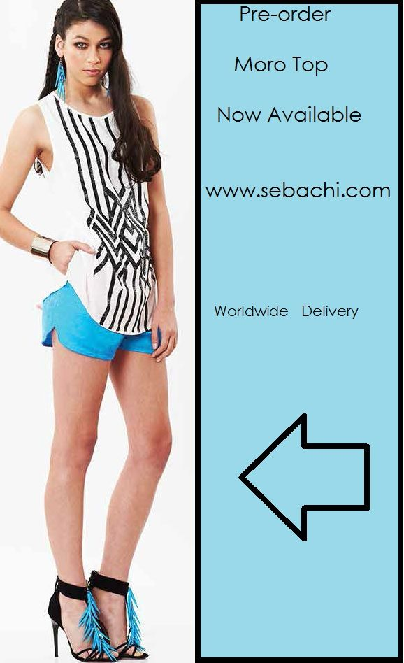 Now Available to Pre-Order this top Link below  http://www.sebachi.com/collections/arriving-soon-womens-1/products/bluejuice-white-el-moro-top-instore-15-11