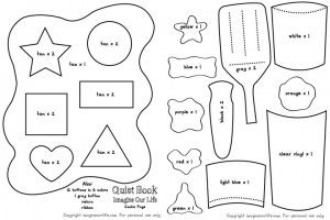 Cookie Shapes & Colors Quiet Book Page