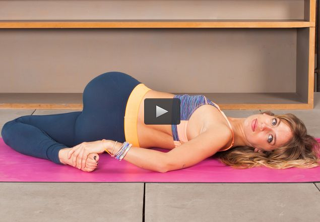 Do these yin yoga poses to ease stress and tension in your lower back.