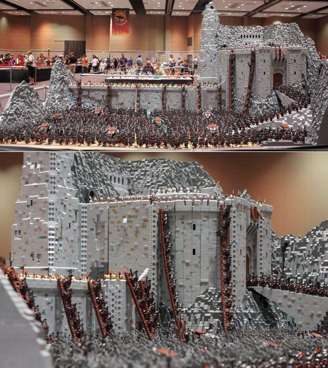 LEGO Helm's Deep. 150,000 pieces...dang.