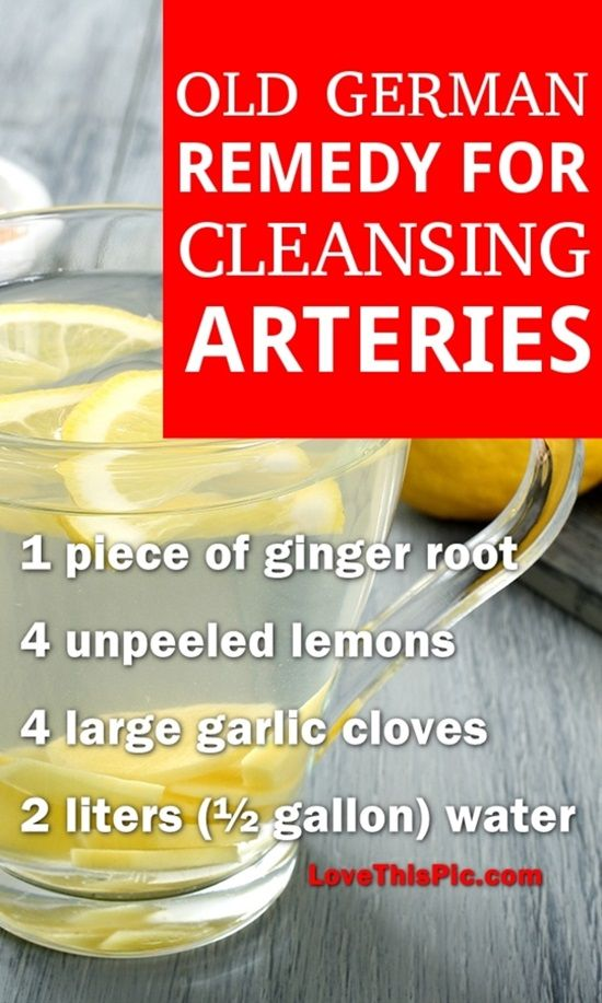 Natural Way To Rid Arteries Of Plaque