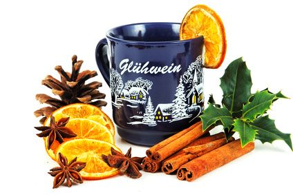 If you haven't been to a German Christmas market, you may not have had the chance to try a mug of Glühwein.  It's hot wine (it can be red or white) mulled with spices and sometimes fresh orange juice.  When it's cold outside, this stuff really hits the spot!  Try this recipe from The German Kitchen website!