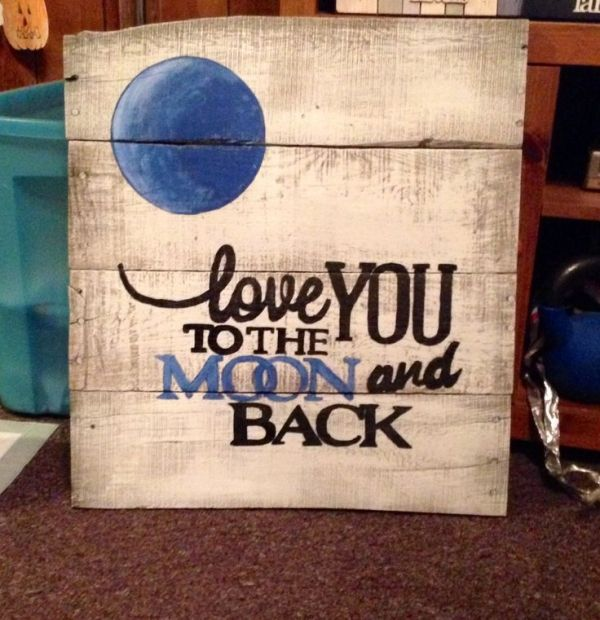 Pallet wood sign by CrisC