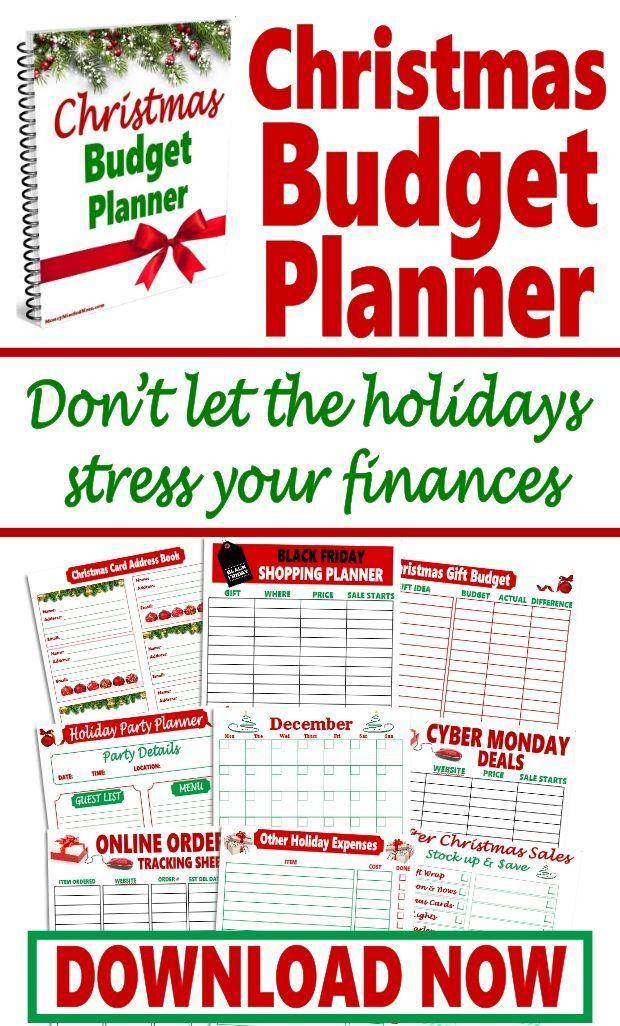 christmas budget planner bundle totally random pinterest