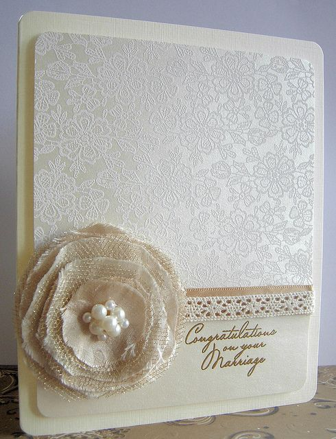 """Wedding card by Stamping and Stitching, via Flickr . . . """"Congratulations on your Marriage"""""""