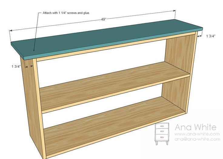 Simple bookshelf plans - attach the top.