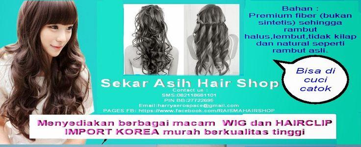 Wig kuat untuk dipasang dan tidak mudah lepas karna didalam wig ada pengait khusus untuk menguatkan wig bila dipasang dikepala. Bahan : premium fiber (bukan sintetis) sehingga rambut halus,lembut,tidak kilap dan natural.
