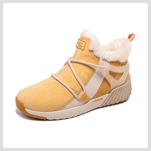 Onemix Damen Herren Warm gefütterte Kurzschaft Schnee Stiefel Sneaker Schwarze Boots Schuhe Winter - Stiefel für frauen (*Partner-Link)