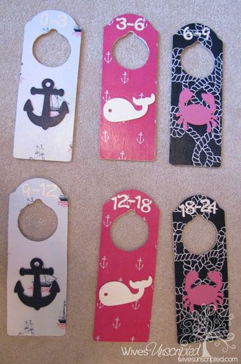 I'm going to make my own closet dividers in Rylie's theme!