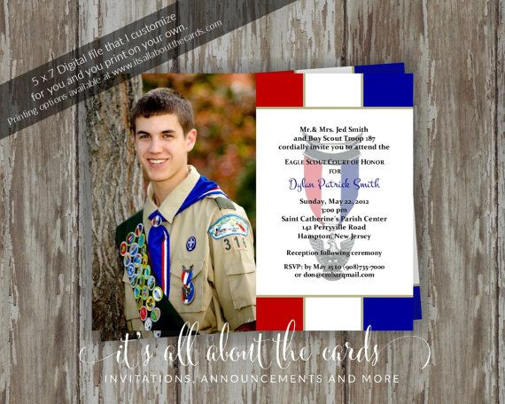 17 best images about Eagle Scout Court Of Honor Ideas Invitations