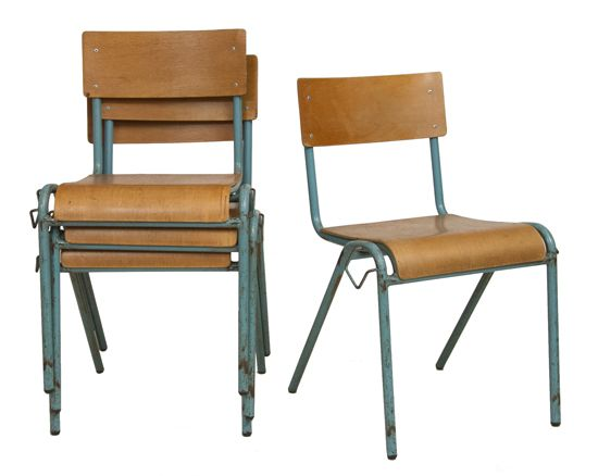 Vintage French Stacking Chairs