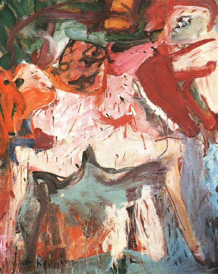 The Visit, Willem de Kooning, 1967. Expressionismo Abstrato.