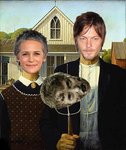 American Gothic meets Walking Dead... for my fellow Walking Dead fans... love Daryl and Carol together!