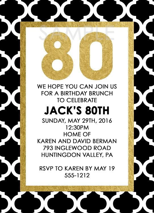 Best 25+ 80th birthday invitations ideas on Pinterest | 70th ...