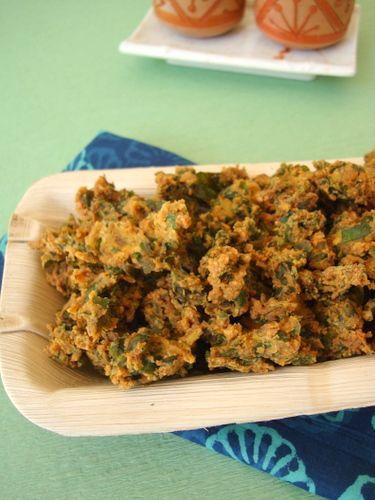 Palak Pakoda ~ Spinach Fritters