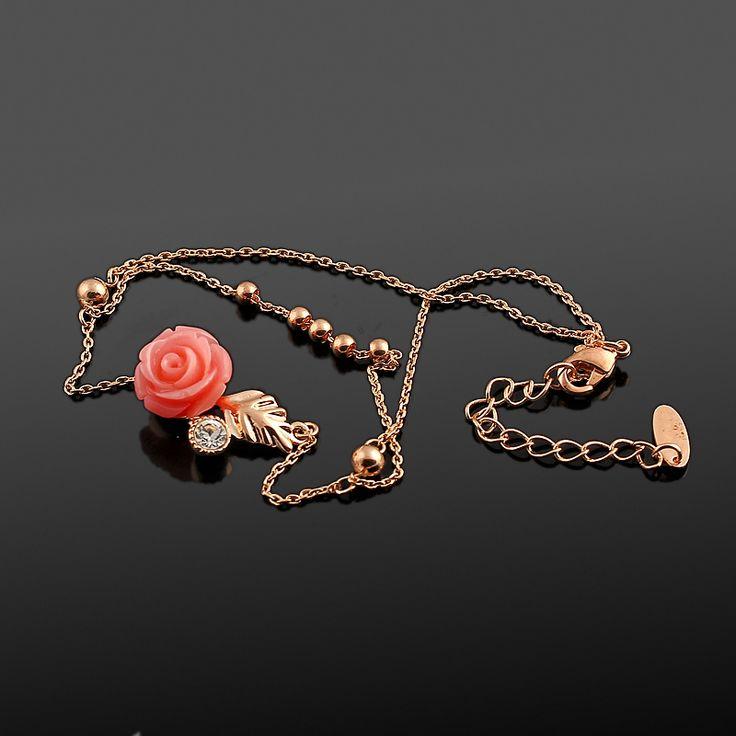 Sanita Halhal - Altın kaplama - Aksesuar - Halhal - Dalya Takı - Gold plated - Rose gold - Accessory - Anklet - Rose