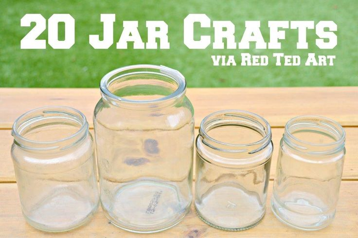 **Empty Jar Crafts** Our upcycling frenzies continues. Today's topic for crafting is JARS..... in all shapes and sizes. Just a question of what to make first..