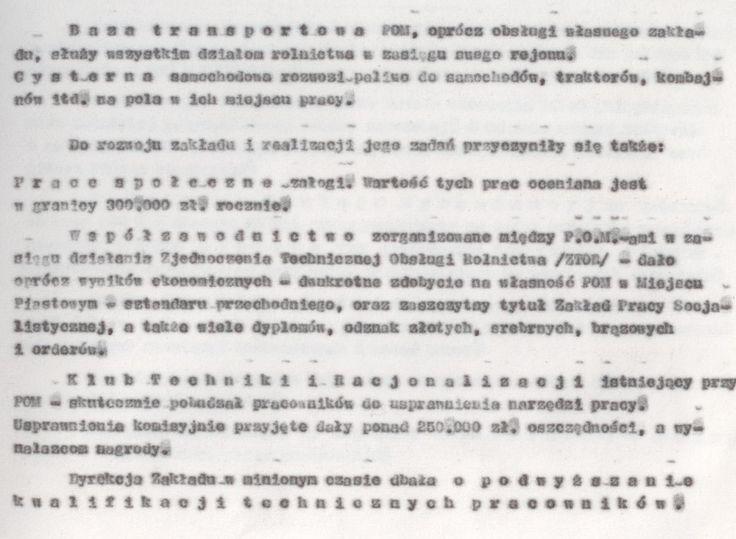 Z kroniki POM 9 (kopia maszynopisu)