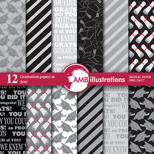 80%OFF Graduation digital papers Grad papers Graduation scrapbook papers commercial use instant download scrapbook commercial-use AMB