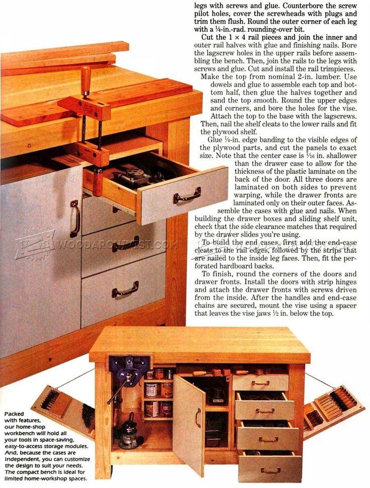 2650 Home Workshop Workbench Plans Workshop Solutions