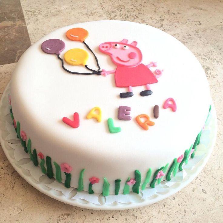 Peepa Pig Fondant cake Pastel de fondant de Peppa la cerdita