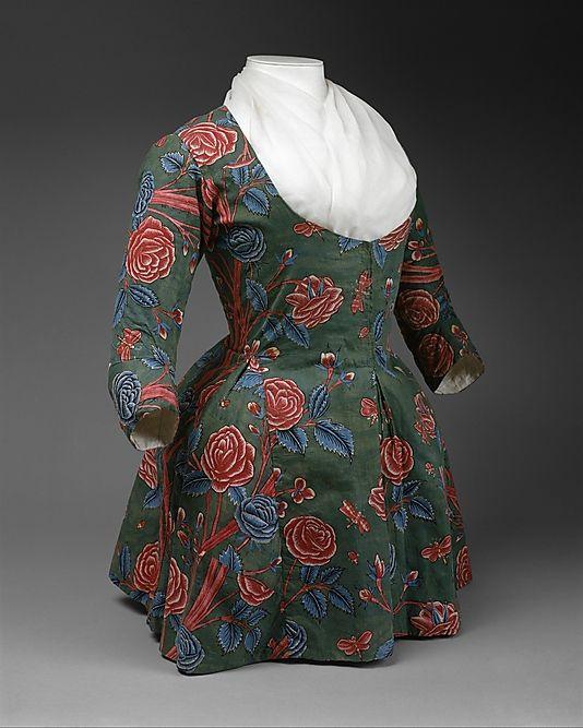 Jacket (Caraco), second half 18th century, Dutch, cotton.