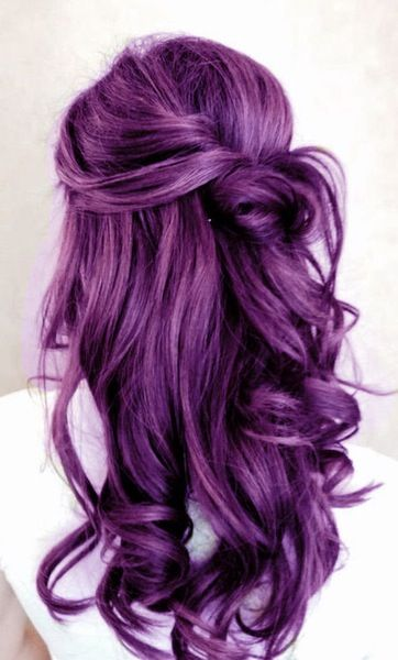 Lovely purple hair...
