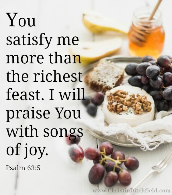 Memory Verse Week 3: You satisfy me more than the richest feast.... Psalm 63:5   Virtual VBS for GrownUp Girls®