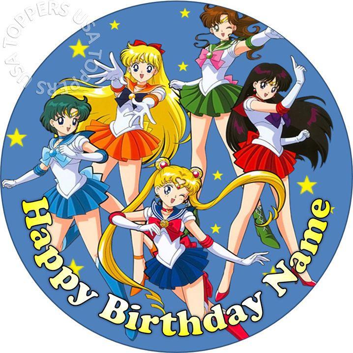 Sailor Moon Crystal Cake Topper