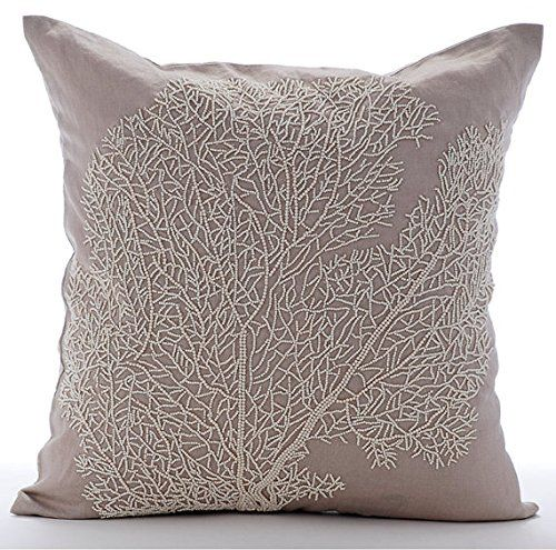 Mocha Decorative Pillow Cover, Beaded Shrub Sea Creatures... https://www.amazon.com/dp/B016H8U0KS/ref=cm_sw_r_pi_dp_x_tdnaybQ63XMFP